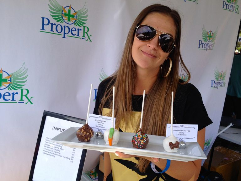 Cake pop cannabis infused medibles baked in San Francisco