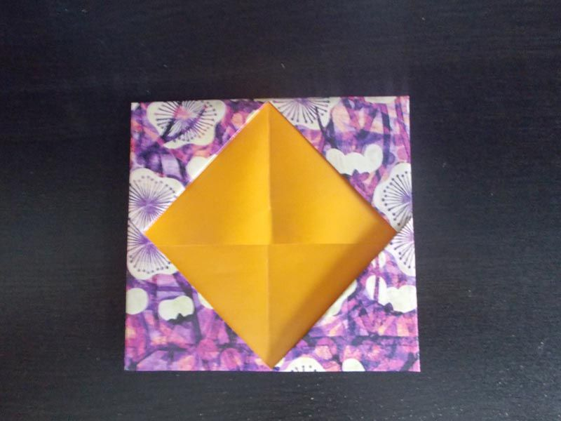Origami business card holder fold the second flap origami business card holder colourmoves Images