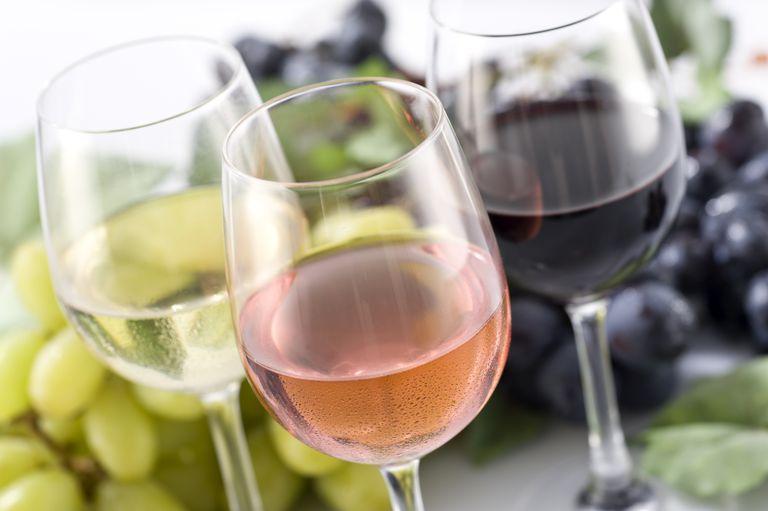 Maridajes por tipo de comida y tipo de vino.