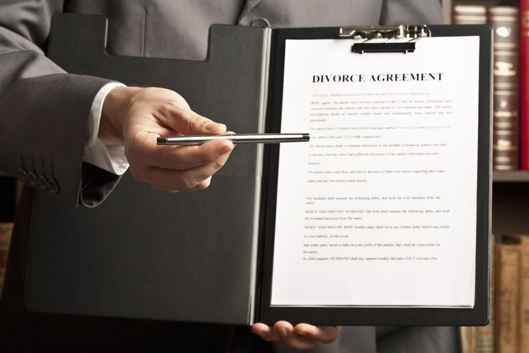 Offer to sign divorce agreement