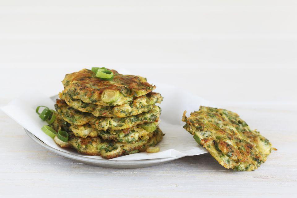 A plate of zucchini patties