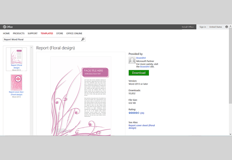 microsoft word template report