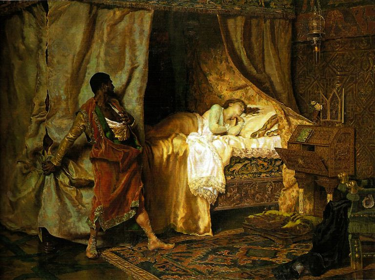Desdemona and Othello, by Antonio Muñoz Degrain