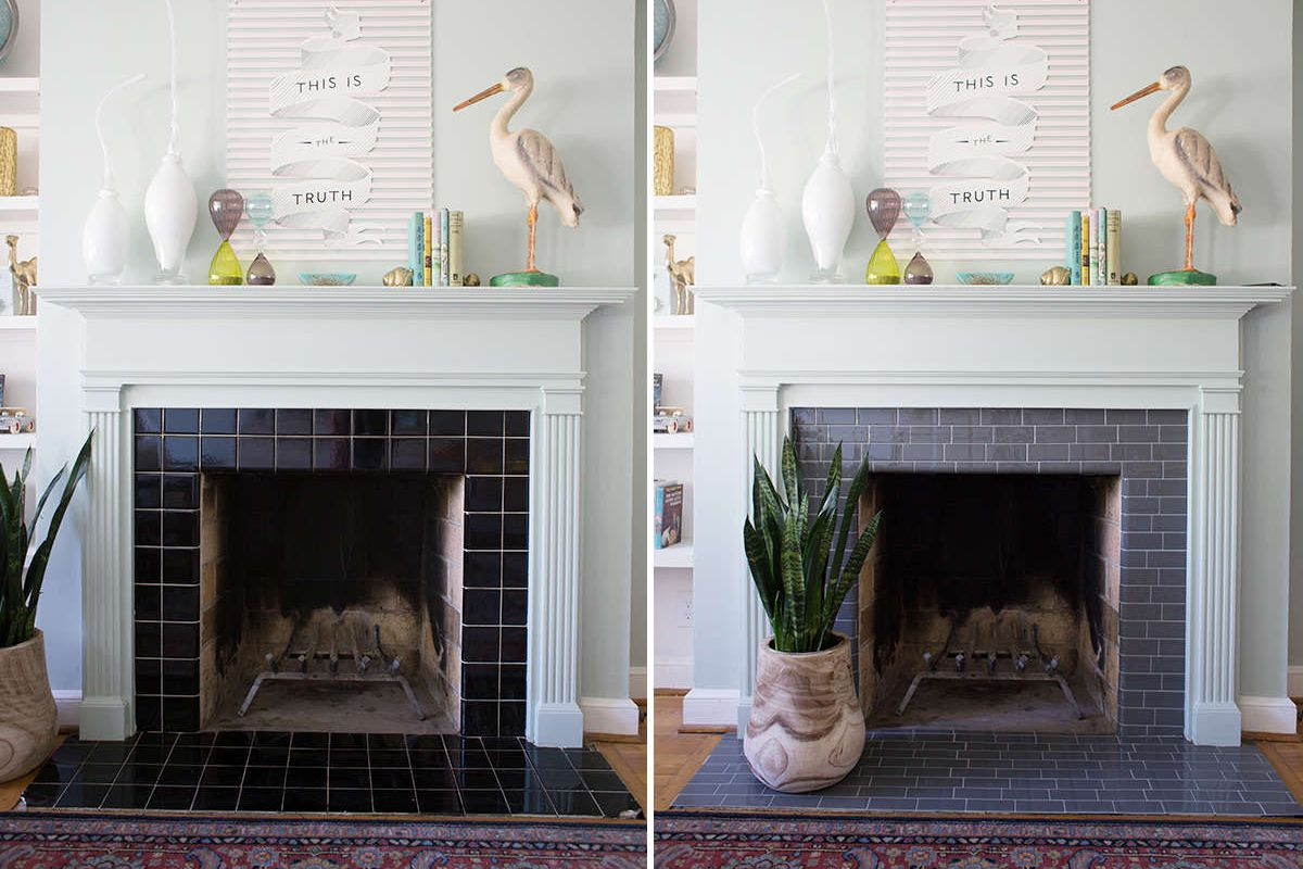 25 inspiring fireplaces with beautiful tile doublecrazyfo Choice Image