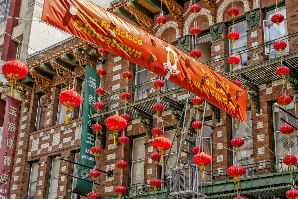 Colorful Lanterns in San Francisco Chinatown