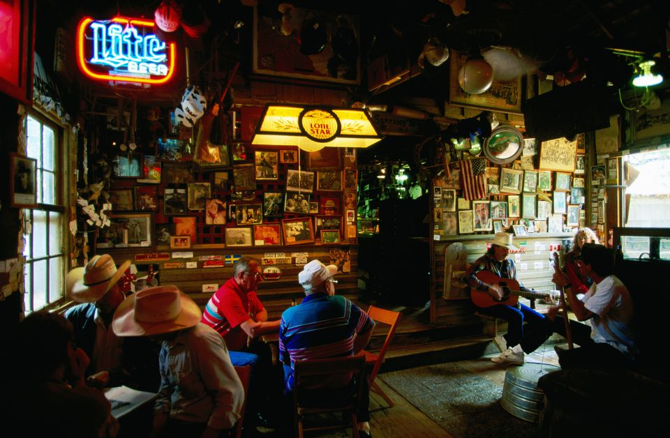 Luckenbach Beer Joint, interior.