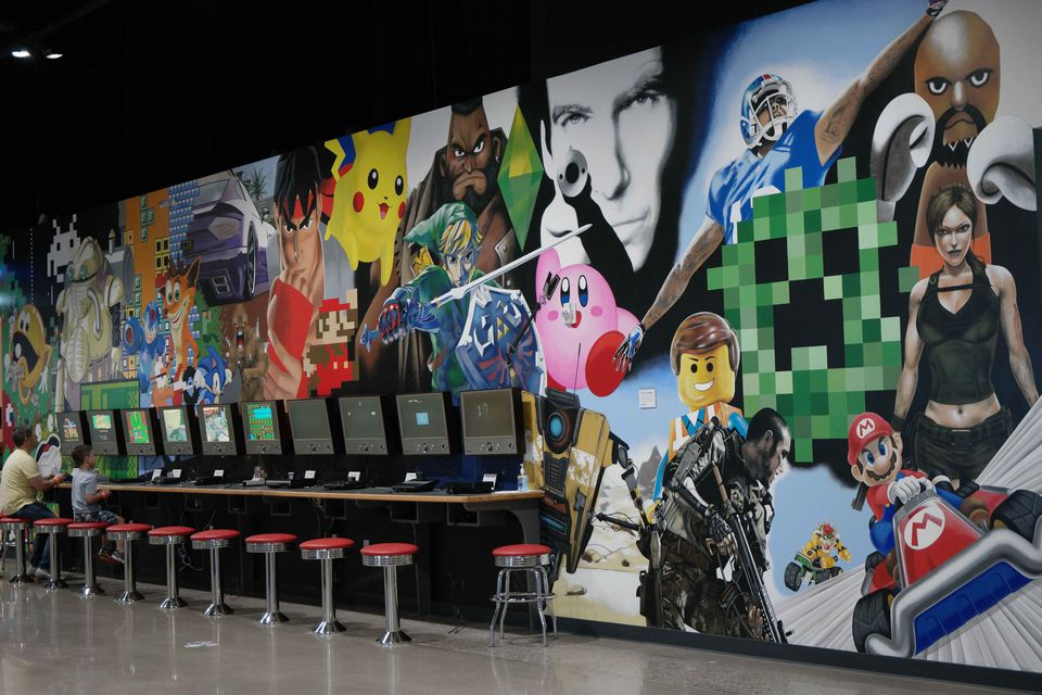 National Video Game Museum Hand Painted Mural