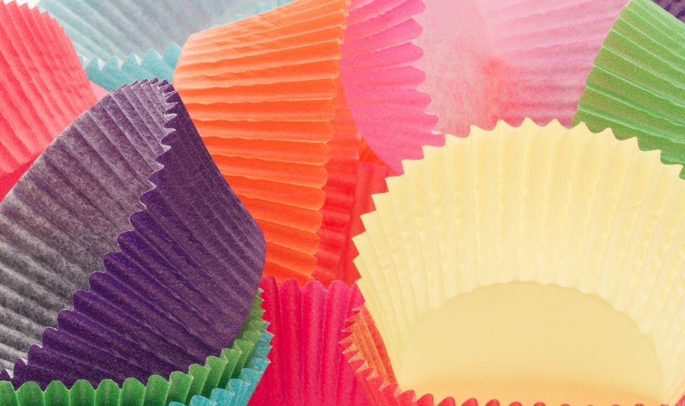 Close-Up Of Cupcake Holders