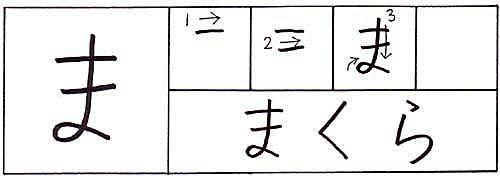 how to write the hiragana ma character