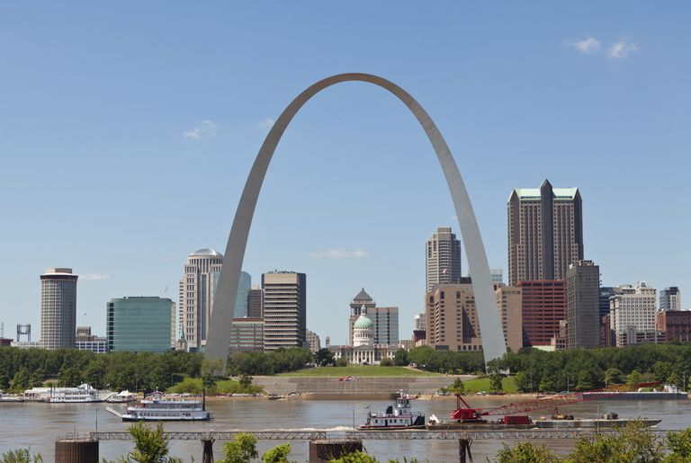 The St. Louis Gateway Arch by architect Eero Saarinen opened on October 28, 1965