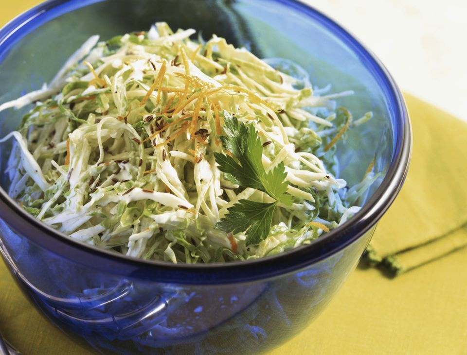 Cold raw cabbage salad photo by Brian Hagiwara / Getty Images