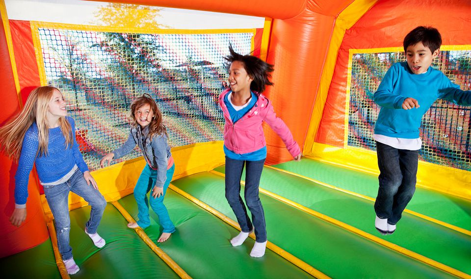 Kids in bouncehouse