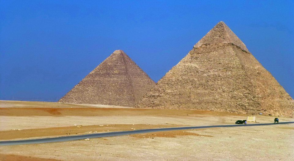 Great Pyramids of Egypt in Northern Africa