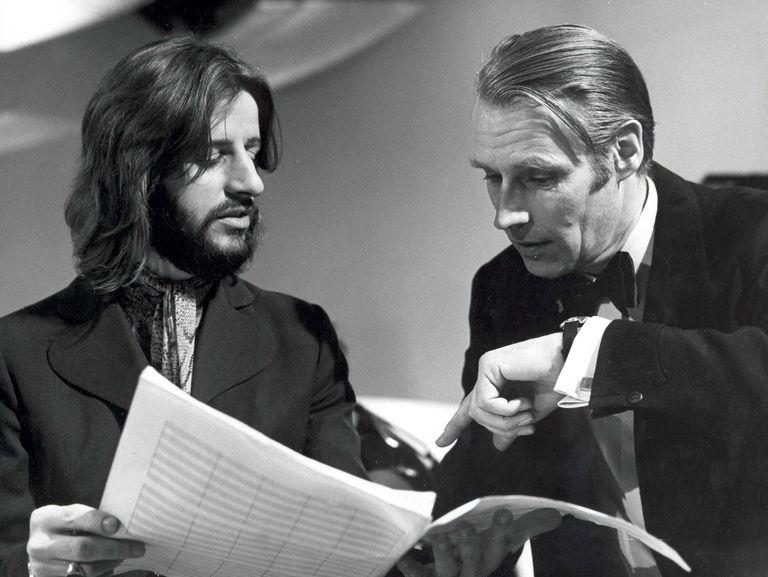 George Martin and Ringo Starr