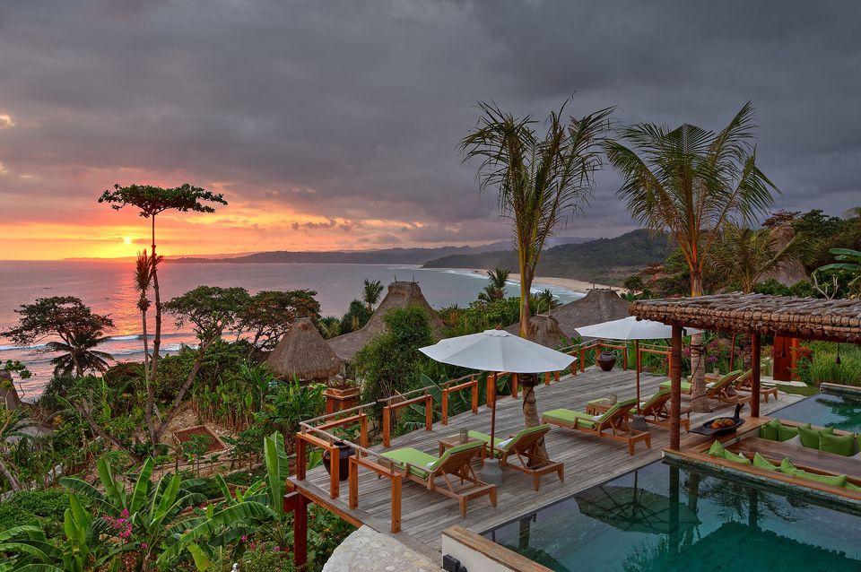 Sunset view from Puncak Villa, Nihiwatu, Indonesia