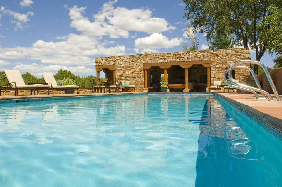 Swimming pool at ranch house