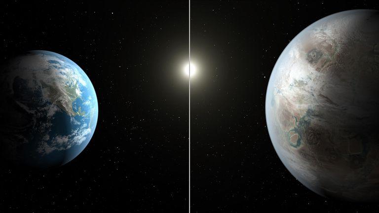Kepler-452b, an extrasolar planet discovered by Kepler space telescope.