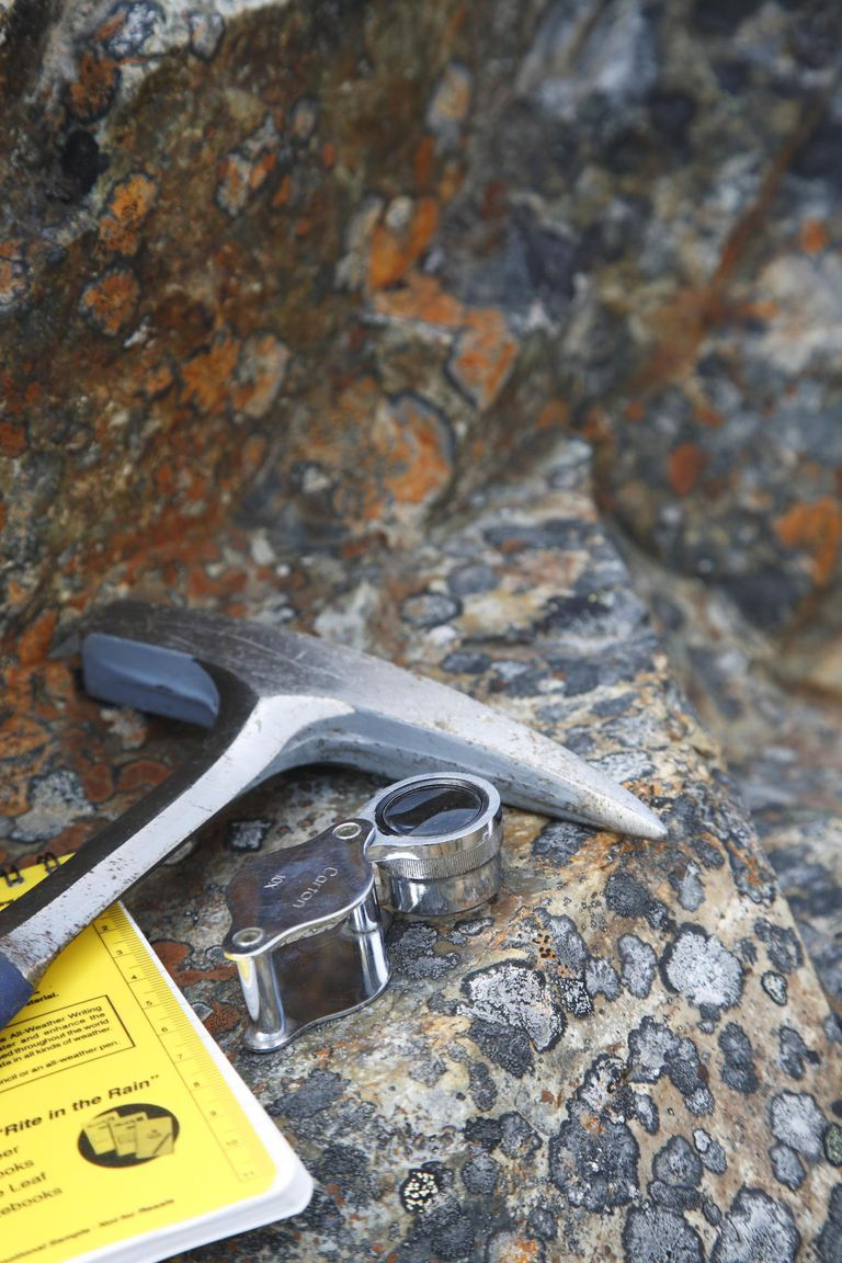 Magnifier on rock