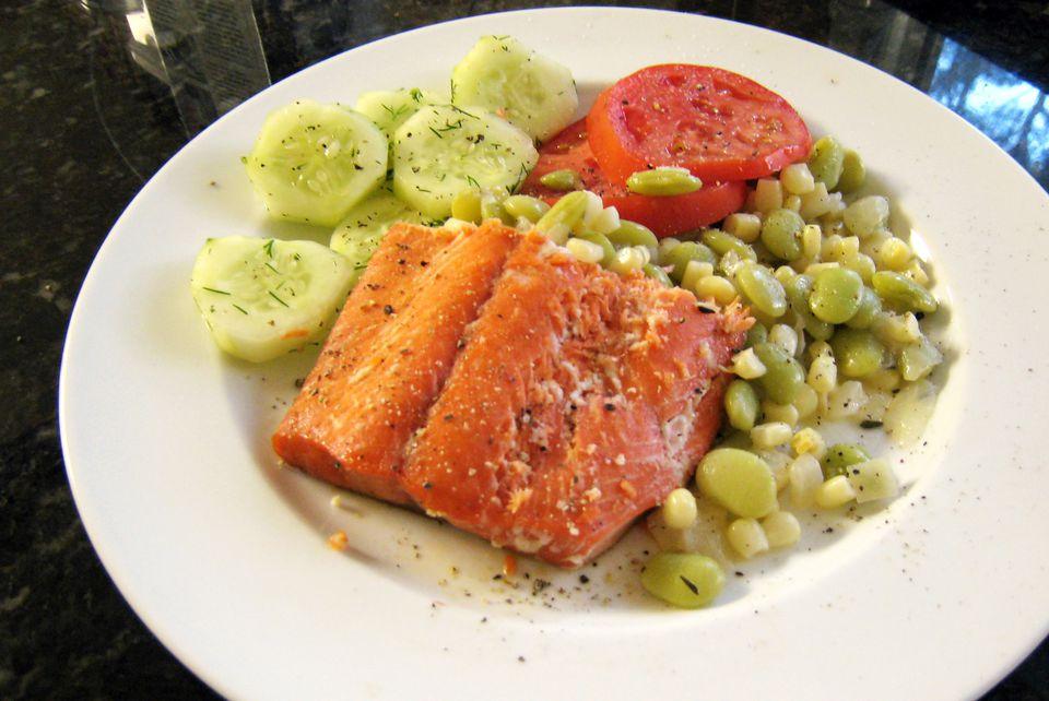 salmon with honey citrus glaze