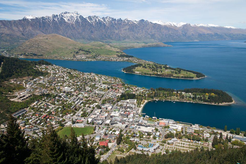 Queenstown NZ aerial