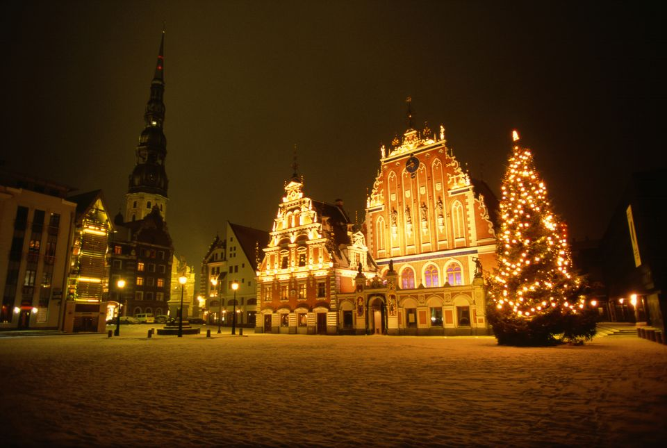 Town square at Christmas