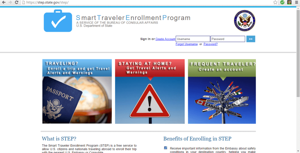 Registering your trip could potentially save your life.