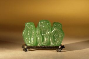 Glass monkey figurine