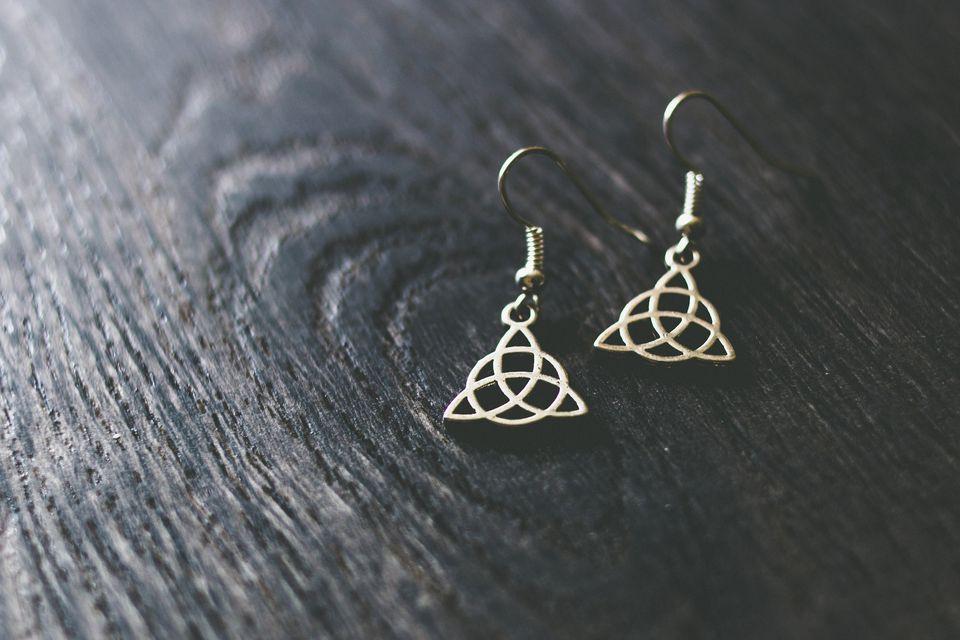 Silver Celtic earrings
