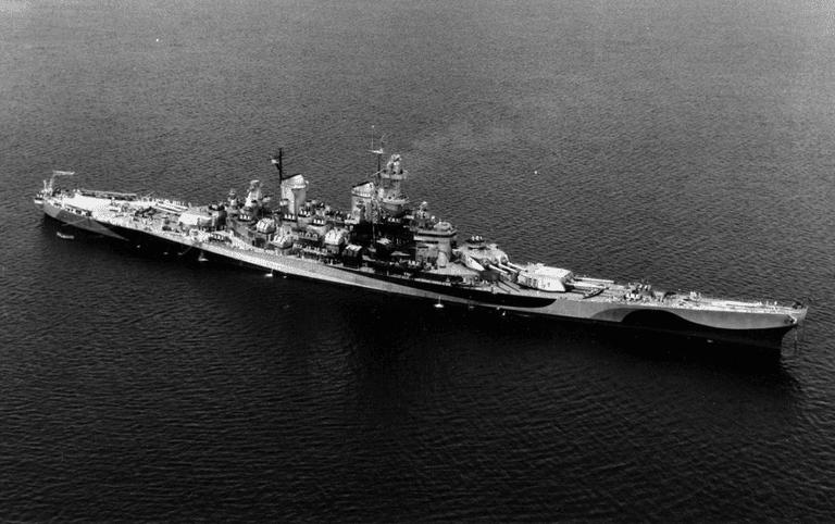 USS Missouri during World War II