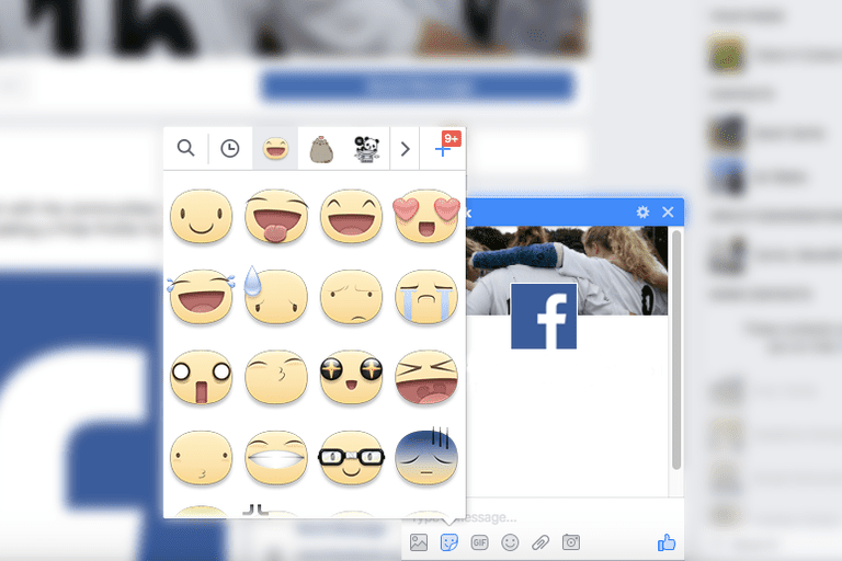 Facebook Messenger stickers
