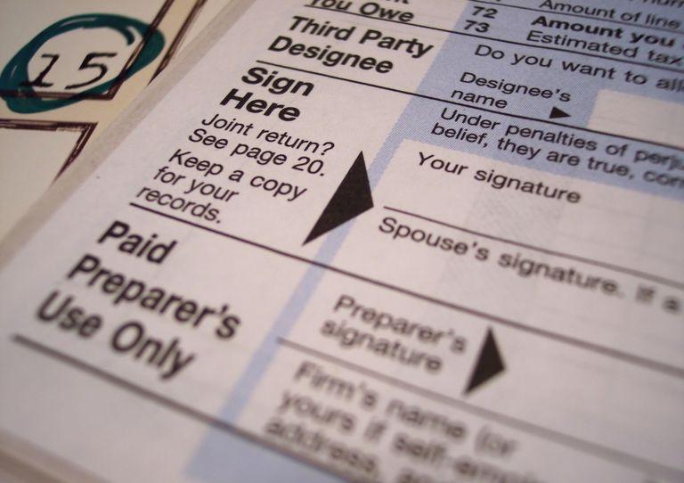 Tax Form Signature Line