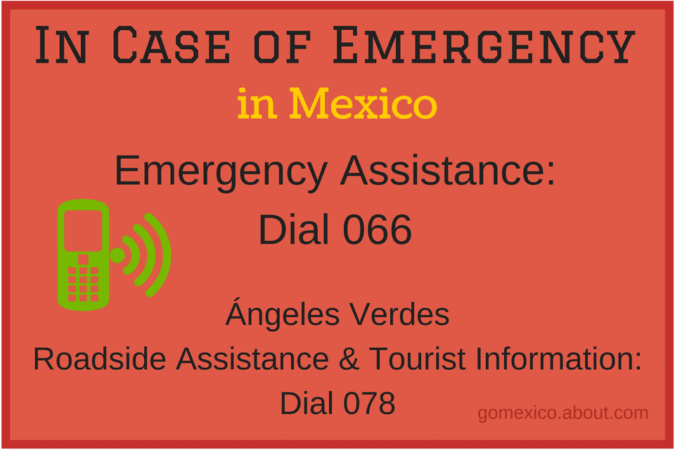 Emergency Numbers for Mexico