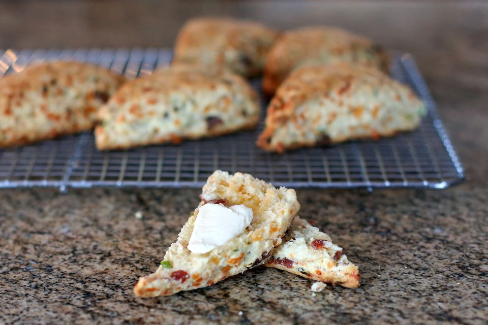 Bacon, Cheddar, and Green Onion Scones