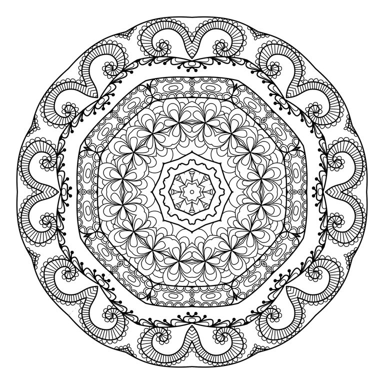 A Mandala Coloring Page For Adults