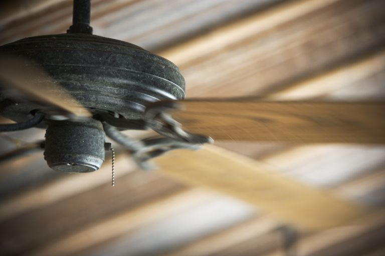 A ceiling fan can go a long way in keeping you cool.