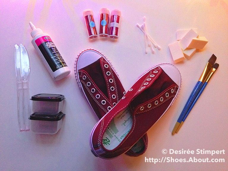 Step-By-Step DIY Glitter Sneakers