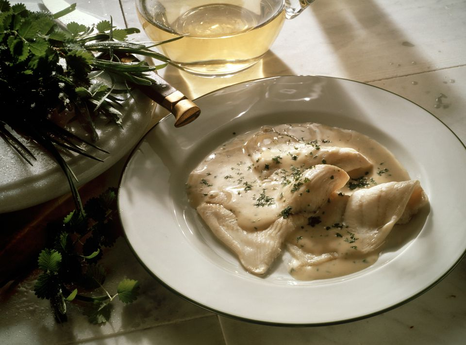 Plaice Fillet with herbed Cream