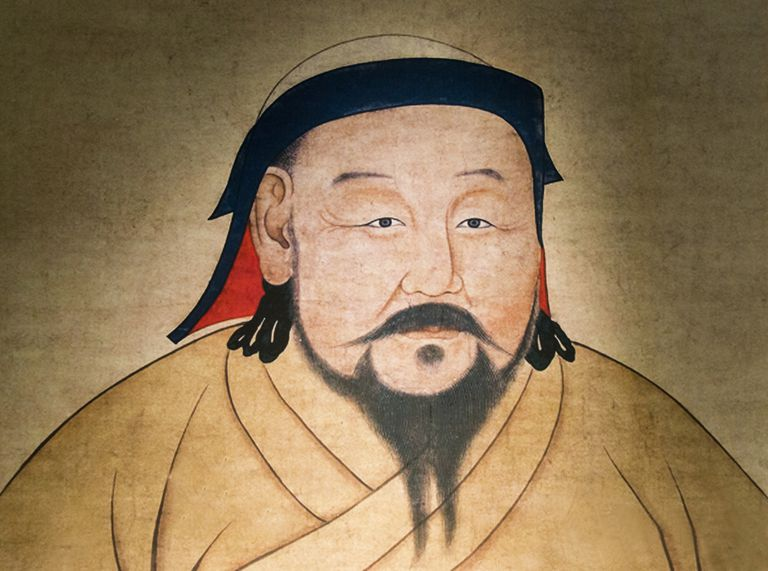 Painting of Kublai Khan, Urumqi, Xinjiang Province, Silk Road, China