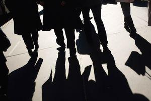 Shadows of businessmen