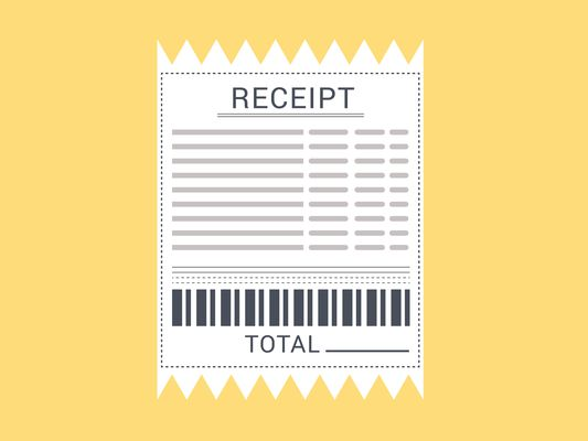 Receipt vector icon. - Illustration