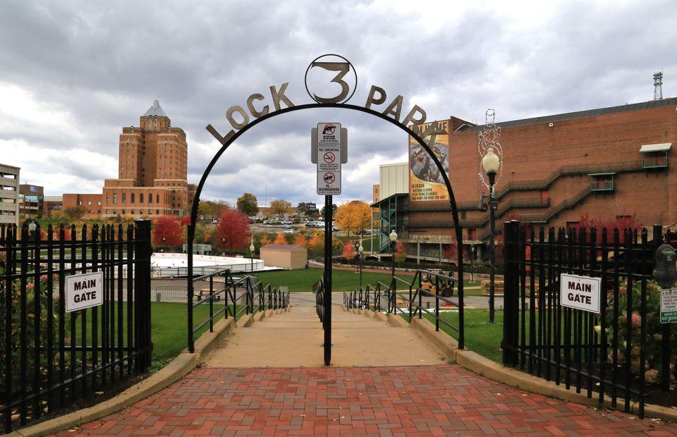 Lock 3 Park, Akron, Ohio, USA