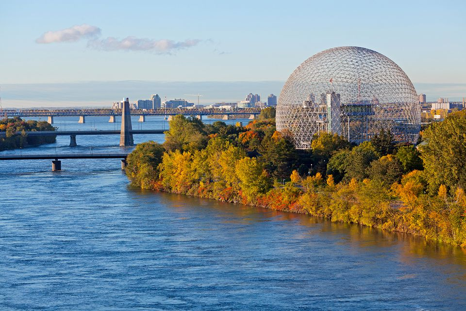 Montreal, Ile Sainte Helene and the St. Lawrence River
