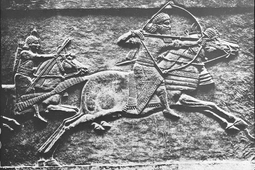 An Assyrian king hunting