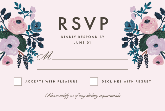 What Does RSVP Mean on an Invitation – Rsvp in Invitation Card Meaning