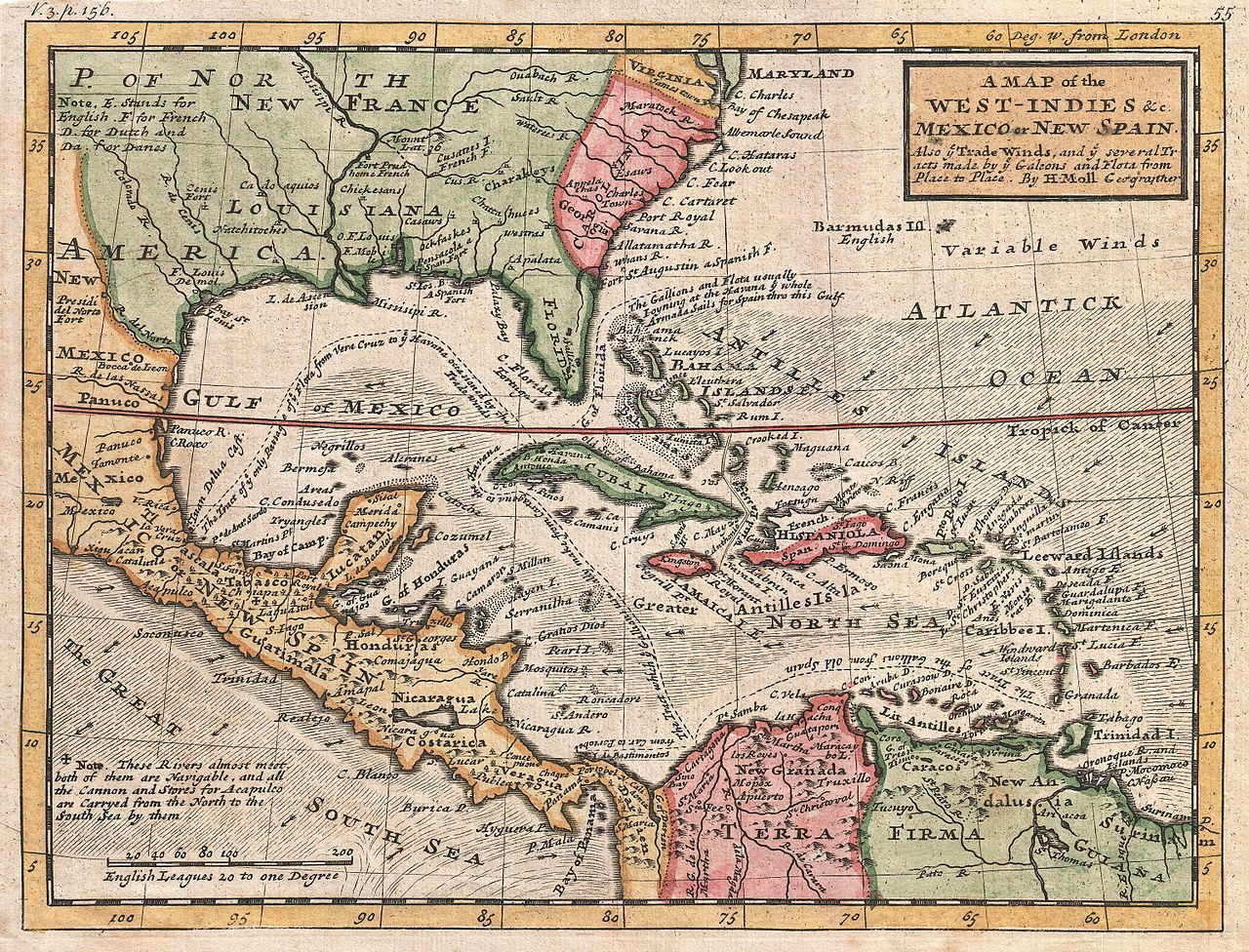 . comprehensive map of the caribbean sea and islands