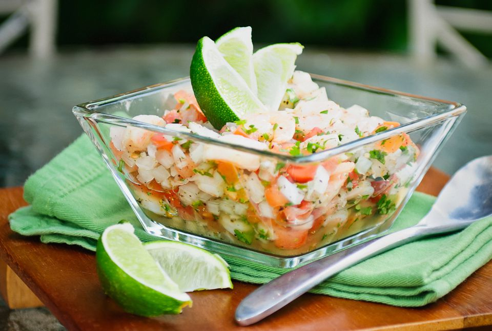 Ceviche with lime