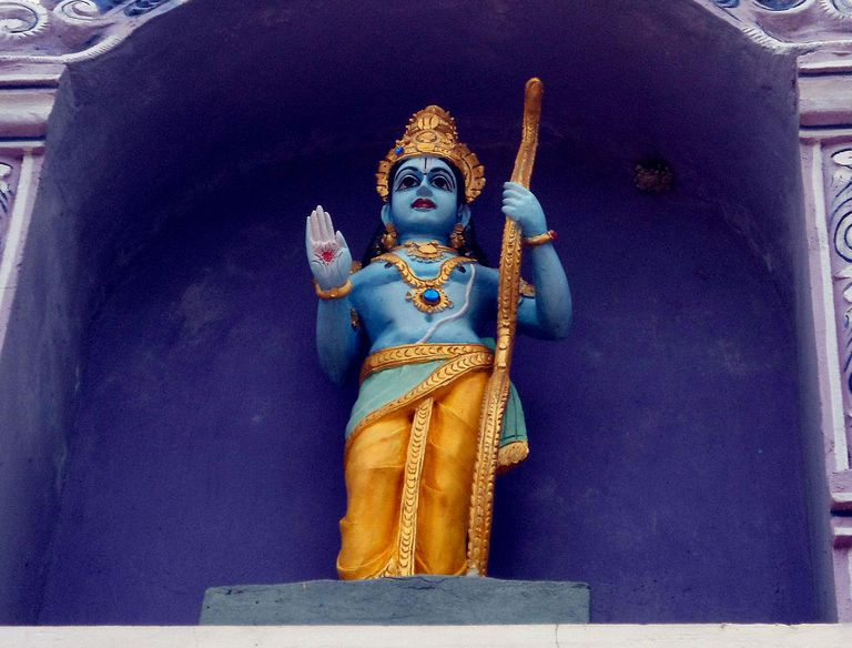 Lord Rama statue at Venkateswara Temple in Midhilapuri VUDA colony, Visakhapatnam