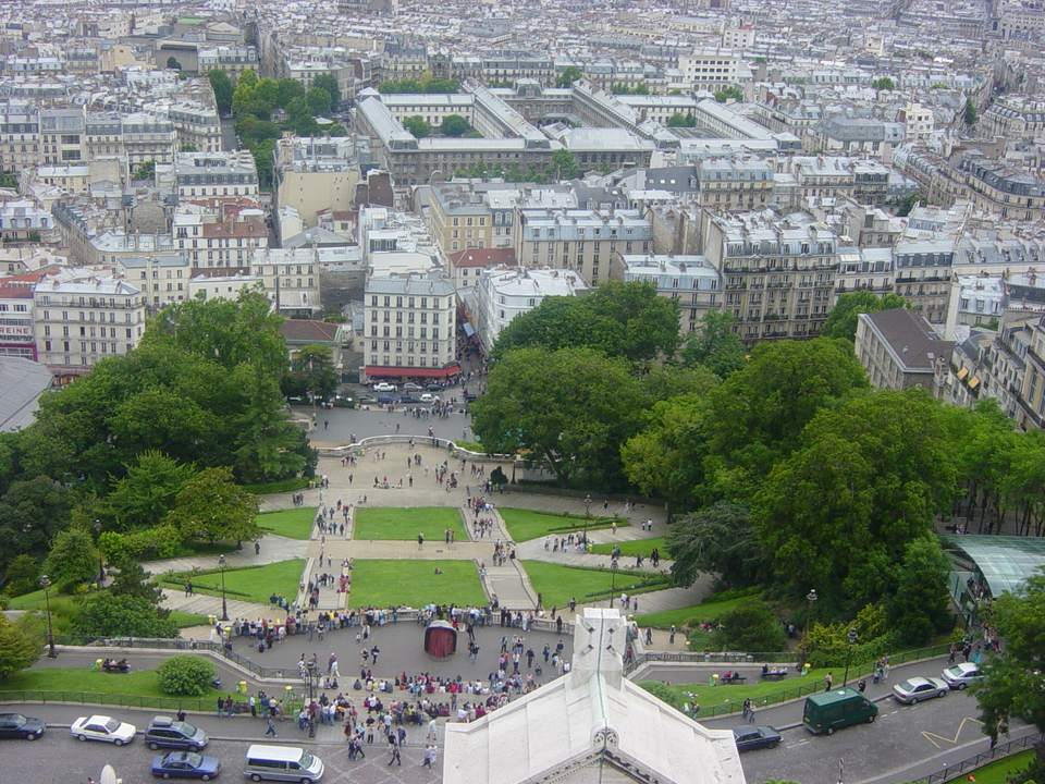 Sacre Coeur offers one of the most spectacular views of Paris, without the lines and expense found at the Eiffel Tower.