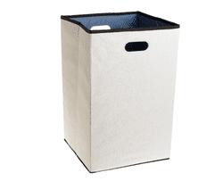 Rubbermaid Configurations Custom Closet Folding Laundry Hamper, Natural, 23-in., (FG4D0602NATUR)