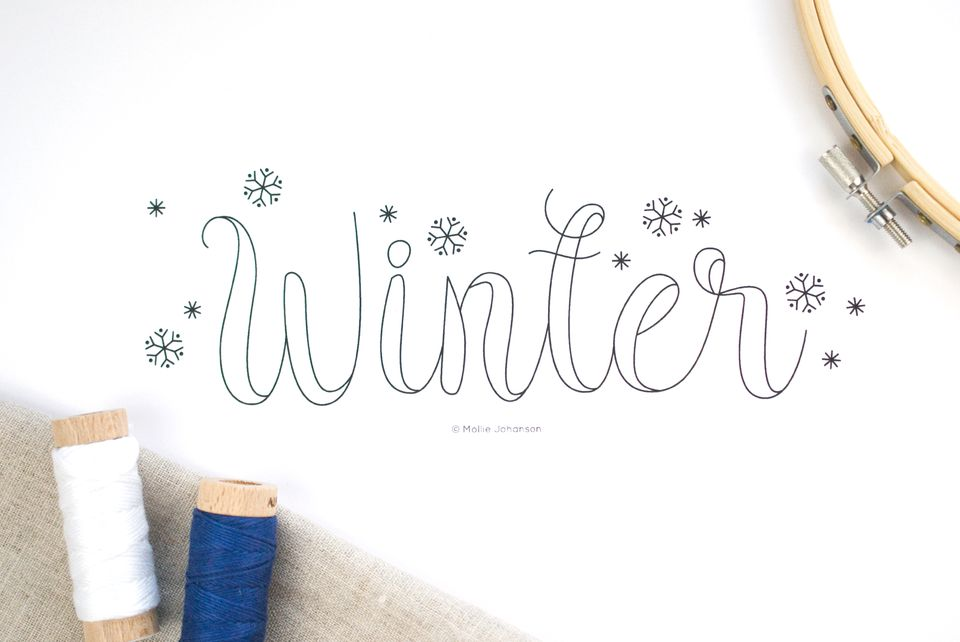 Winter Seasonal Embroidery Pattern